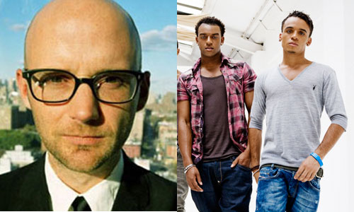 Moby & JLS: not destined to share a stage any time soon.